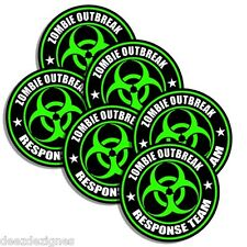 "ZOMBIE OUTBREAK RESPONSE TEAM 6-PACK  2"" Apocalypse Hunter Undead Sticker 603"