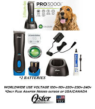 Oster PRO 3000i Lithium Ion Rechargeable Cordless CLIPPER SET,2 BATTERIES&Blade