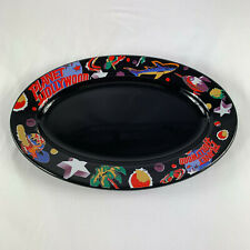 Planet Hollywood Oval Platter Black 13 3/4 Inches