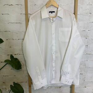 George Men's Size XL EUR 44 UK 17 1/2 White Long Sleeve Dress Shirt As New NWOT