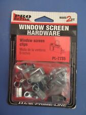 """Prime Line #Pl-7735 Screen Clip With Screws, 5/16"""", Mill Finish, Pack of 12 New"""