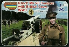 """Strelets 1/72 (20mm) WWI British 6"""" Mk VII Gun with Crew"""