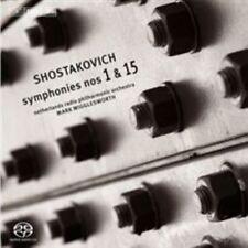 Shostakovich: Symphonies Nos. 1 & 15 Super Audio Hybrid CD (CD, Mar-2014, BIS...