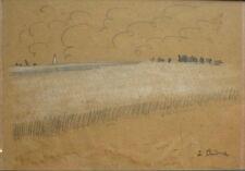 Auguste CHABAUD (1882-1955) Dessin et pastel 1902  (v)