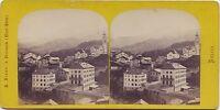 Suisse Tiefenkasten Vallée Da L Albula Braun Stereo Vintage Albumina Ca 1860