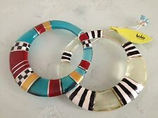 Artisan ORNA LALO Treasures Handcrafted 2 Bangle BRACELETS Poetry Earth V BN2510