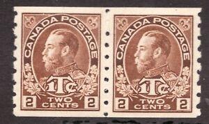 Sc# MR7a pair - Canada - 1916 - WWI Tax Admiral - MLH/GEM -  superfleas cv$500