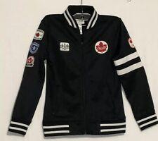 London 2012 Canadian Olympic Team Black Podium Jacket Bomber Track Collectible