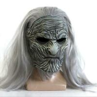 Game of Thrones White Walker Cosplay Mask Full Head Halloween Party Props Latex