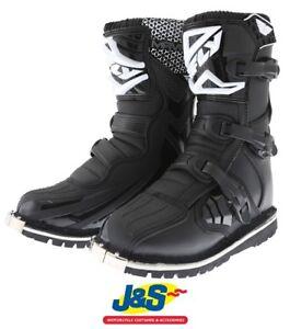 Fly Maverick ATV MX Boots Motorcycle Motocross Off-Road Moto-X Black Short J&S