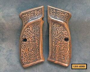 CZ 75 Turkish Walnut Wood Grips. Handmade. A Quality. FAST USA SHIPPING. A+