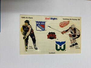 1989 Kraft Singles Canada Hockey All Stars Sticker Sheet #3 Coffey & Yzerman