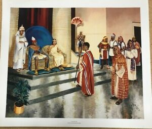 """New Framed Let My People Go Egypt Moses Pharaoh Art Poster Print Size 23"""" x 27"""""""