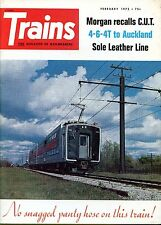 Trains Magazine February 1972 4-6-4T to Auckland / Sole Leather Line
