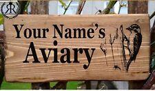 BIRD HOUSE AVIARY SIGN NAME PLATE PLAQUE FOR A GARDEN CAGE WOODPECKER BIRD BATH