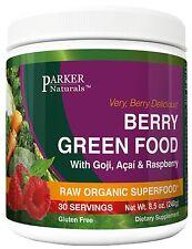 Berry Green Superfood with Goji Acai & Raspberry Raw Organic Nutrition 240 Grams