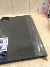 Filofax Zipped A4 Folio Organiser Leather Look Spine With Calculator Brand New