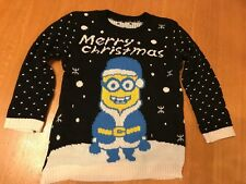 Black Knitted Christmas Minion Jumper