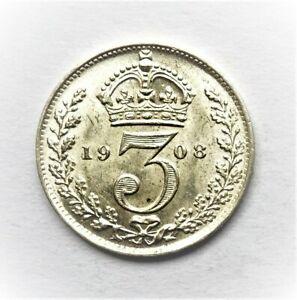 Edward VII  1908 Threepence