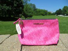 NEW - Victoria's Secret medium makeup case with angel wing zipper pull - pink