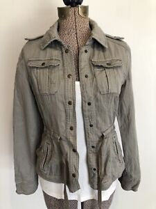 Anthropologie Daughters Of The Liberation Jacket Gray Size 2 XS/S Military