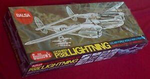 "Guillow's Lockheed P-38L Lightning - 40"" Span - cat. 2001 - Sealed!"