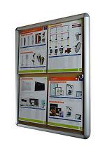 Lockable Notice Board 4xA4 Indoor Cork Board Pin Board
