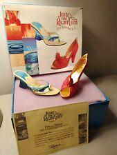 Just The Right Shoe Membership Duo Set Fire&Water Miniature Shoes W/Box&Coa