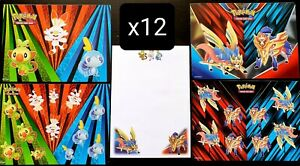 12x Pokemon Collectors Chest Tin Spring 2020 sticker sheets + notepad sets
