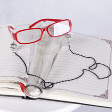 Black Butler Grell Sutcliff Cosplay Glasses Costume Red props Metal chain adorn