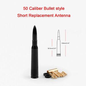 50 Cal Black Bullet Antenna Heavy Gauge CNC Machined Billet Short For Ford F150