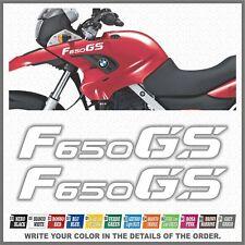 2x F650 GS White BMW Motorrad ADESIVI PEGATINA STICKERS AUTOCOLLANT AUFKLEBER