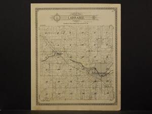 Wisconsin Waupaca County Map 1923 Township of Larrabee O5#29