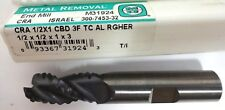 METAL REMOVAL M31924 1/2X1/2X1X3 3F ROUGH END MILL FOR ALUM (TICN) 2743232