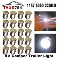 20Pcs White 1157 BAY15D 22 SMD LED Light Bulb Tail Brake Stop Turn Signal light