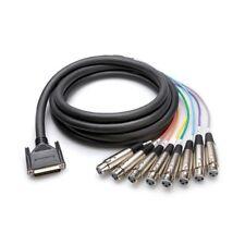 Hosa DTF-803 10ft DSub DB25 Pin Snake Lead to 8 XLR Female Loom Cable 3m