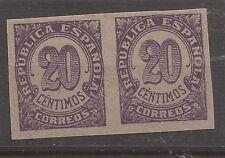 1938 Cifras Edifil 748** MNH PAREJA VC 64,00€