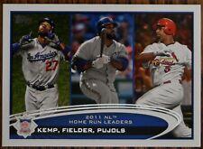 2012 Topps #77 Matt Kemp / Prince Fielder / Albert Pujols LL Dodgers Cardinals