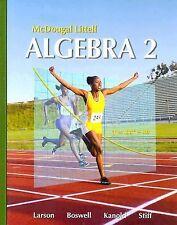 Holt Mcdougal Larson Algebra 2 Ser.: Algebra 2 by Laurie Boswell, Timothy D....