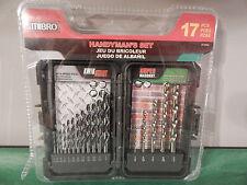 MIBRO HANDYMAN'S SET 17 PCS. Assorted Drill Bits Steel & Masonry New 871060