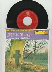 """MARIO LANZA -  I'll Walk With God -  RCA Victor – EPA-5048  7"""" EP"""