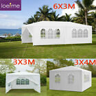 3x3/4/6M Waterproof Gazebo Marquee Canopy Outdoor Garden Party Tent with 4 Sides
