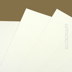 40 x A6 White Prestige Blank Flat Invitation Cards 400gsm - Weddings & Events
