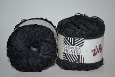 Lot of 10 Zig by Geroges Picaud Made in France Yarn Black75% Viscose -25% Cotton