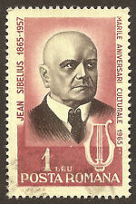 Scott # 1741 - 1965 -  ' Jean Sibelius, Finnish Composer '; Portrait in Black