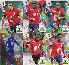 PANINI FOOTBALL 2014 2015 ADRENALYN CARDS LOT DE 6 CARDS GAME LOSC LILLE