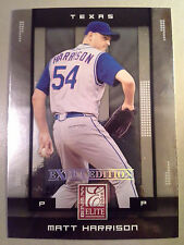 Rangers MATT HARRISON 2008 Donruss Elite Extra Edition Rookie Card #71 RC