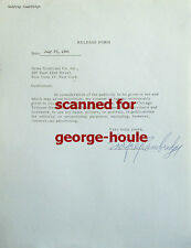 GODFREY CAMBRIDGE - DOCUMENT - SIGNED - 1965 - SCARCE - IDI AMIN - DIED AT 43