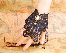 Fancy dress, Emo Necklace/Choker Black Lace Bracelet/Wristband. Vintage Wedding,