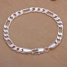 925 sterling silver 8mm Men women wedding Chain cute noble Bracelet jewelry